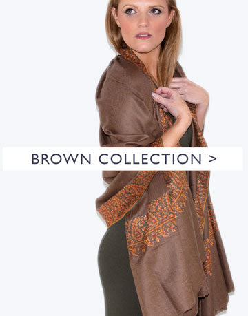 an image showing a brown scarf