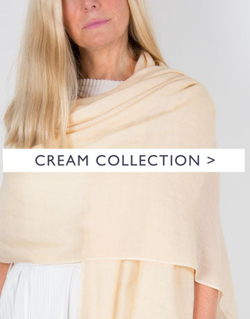 an image showing a cream scarf