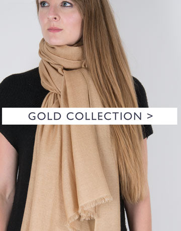 an image showing a gold scarf