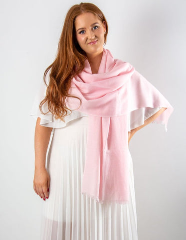 Pink Cashmere Wedding Pashmina