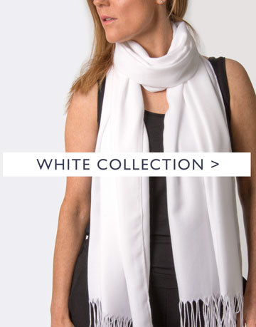 an image showing a white scarf