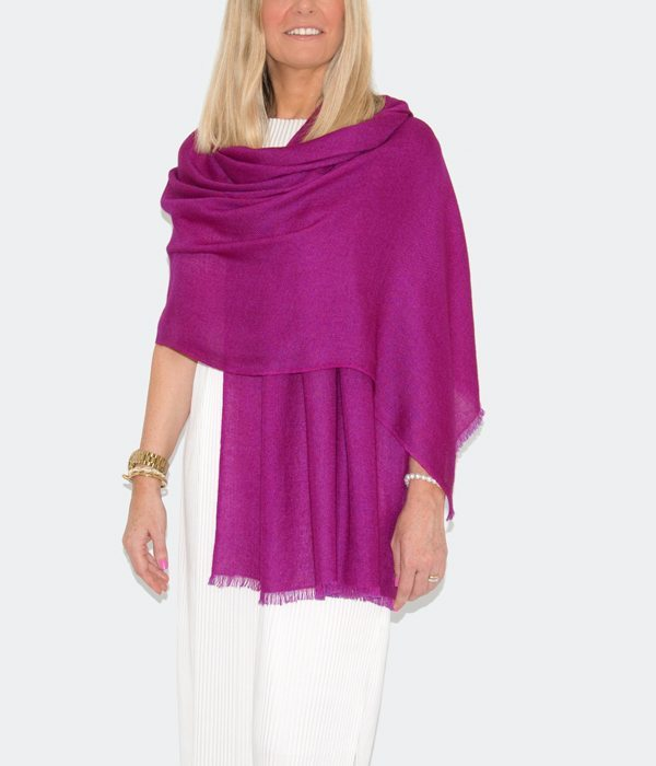 an image showing a purple cashmere pashmina