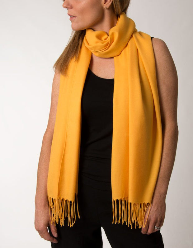 an image showing an amber coloured pashmina
