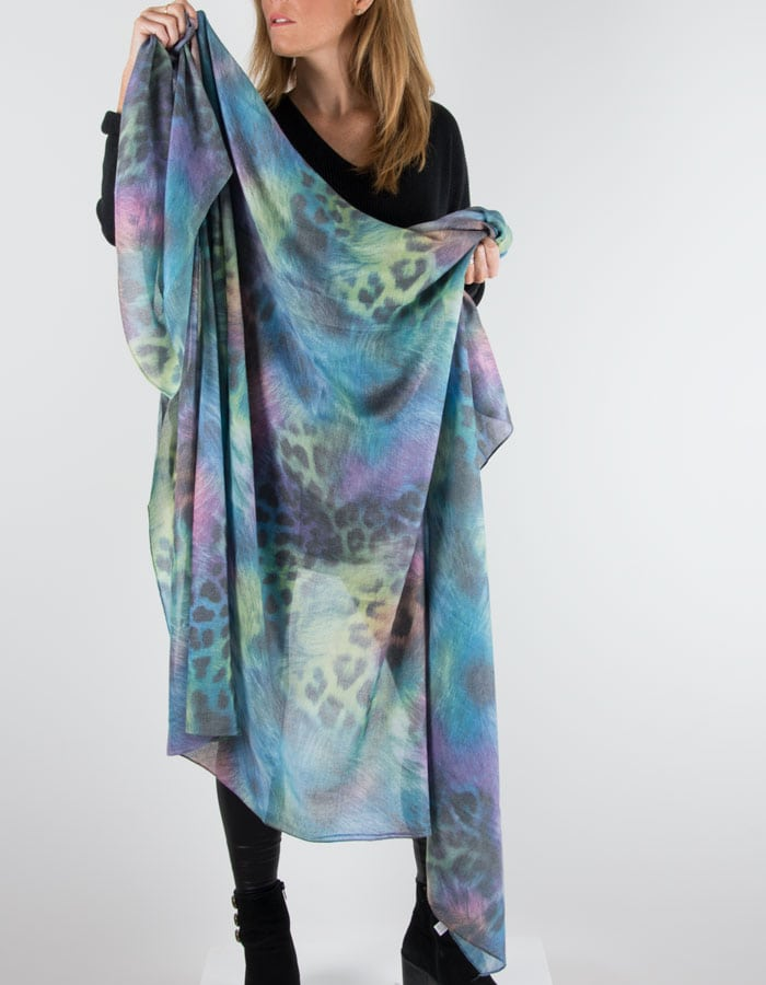 Animal Print Scarf Multicoloured