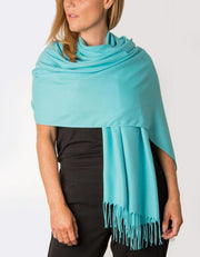 an image showing an aqua blue pashmina