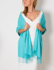 Aqua Blue Wedding Pashmina