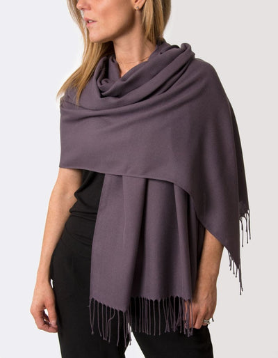 an image showing an aubergine purple pashmina