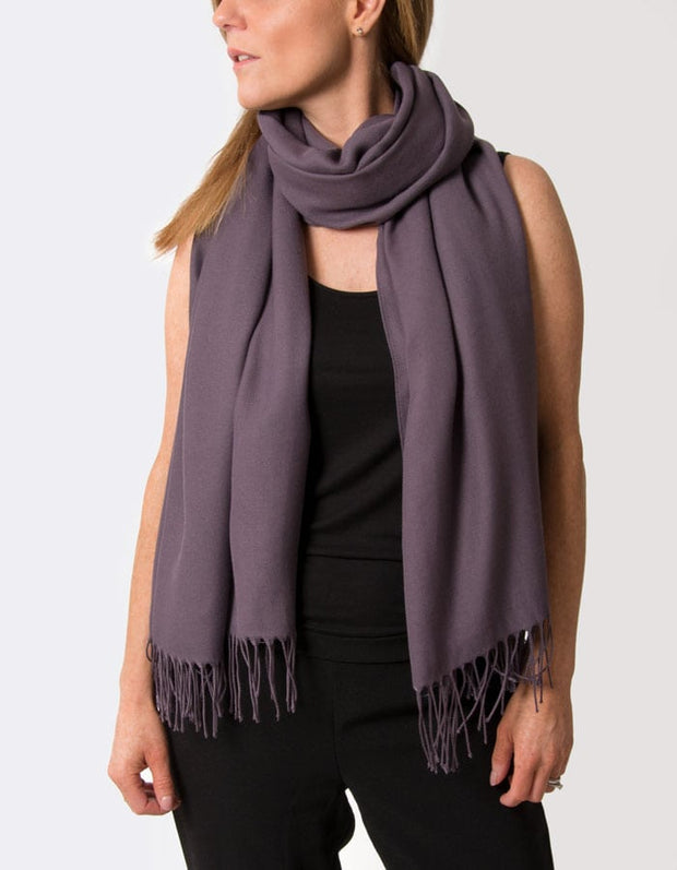 an image showing an aubergine pashmina