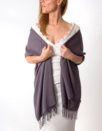 Aubergine Wedding Pashmina
