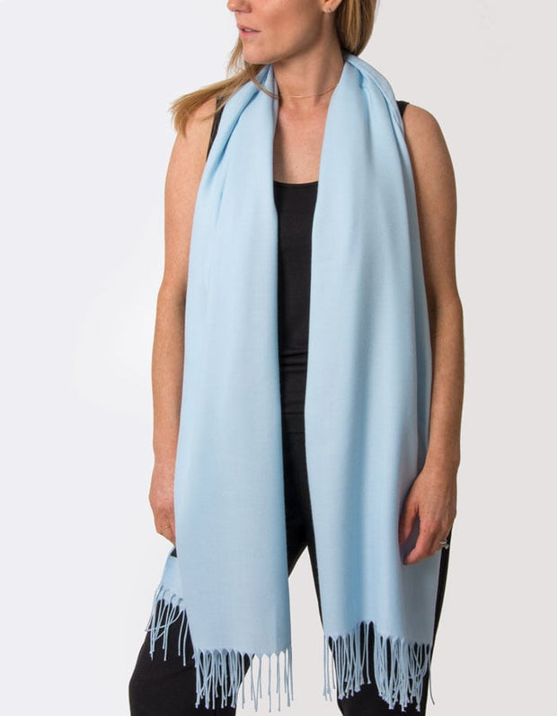 an image showing a baby blue pashmina