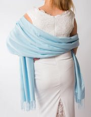 Baby Blue Wedding Pashmina