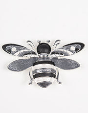 Brooch | Bee | Grey, Black & Silver