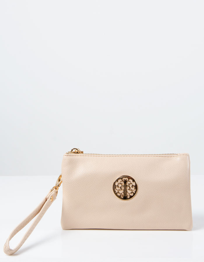 Beige Clutch Bag | Toni
