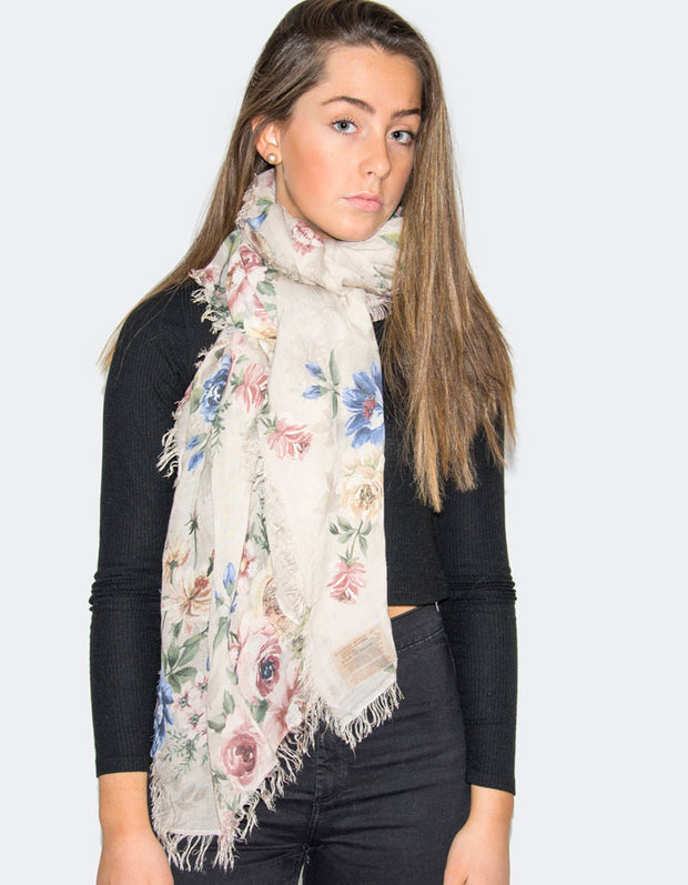 an image showing a floral scarf