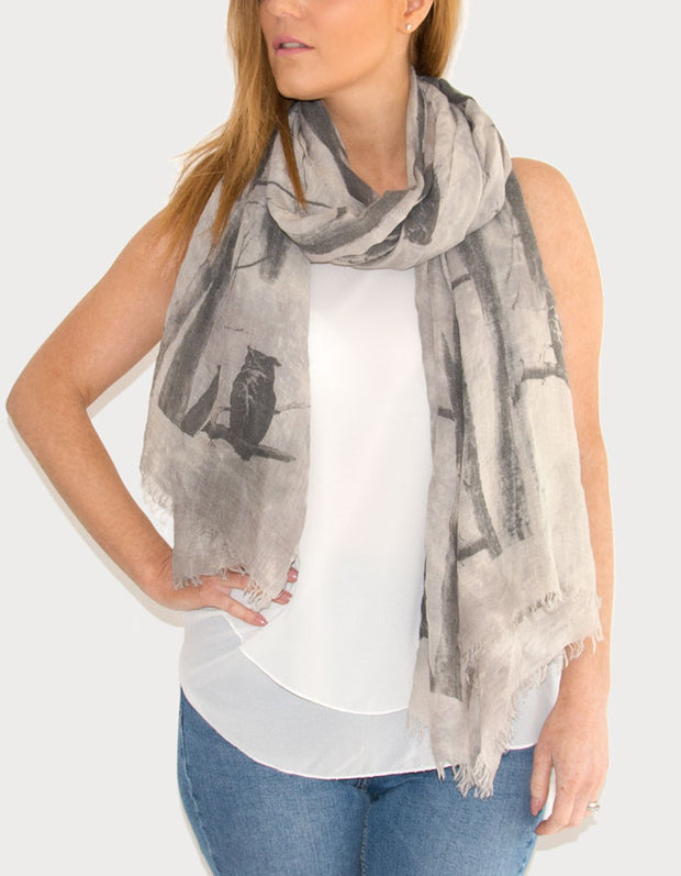 an image showing an owl print scarf