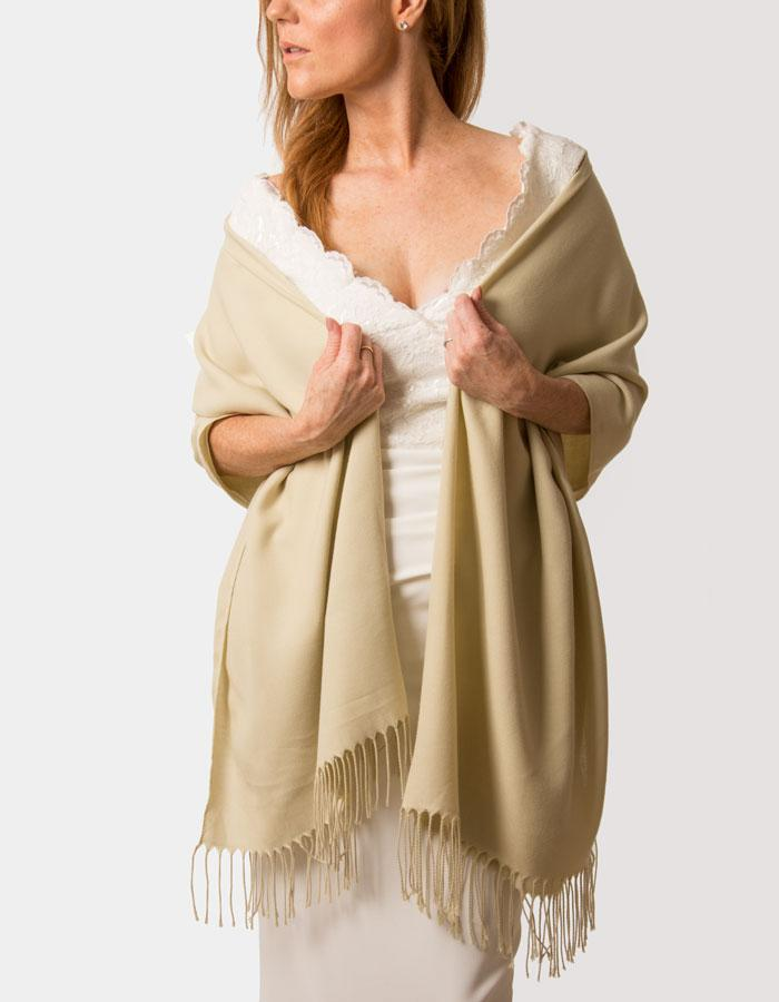 Beige Wedding Pashmina