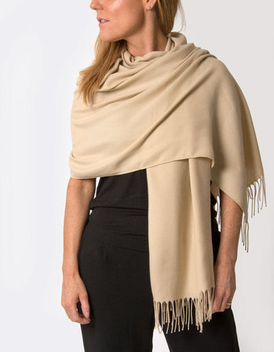 an image showing a biscuit coloured pashmina