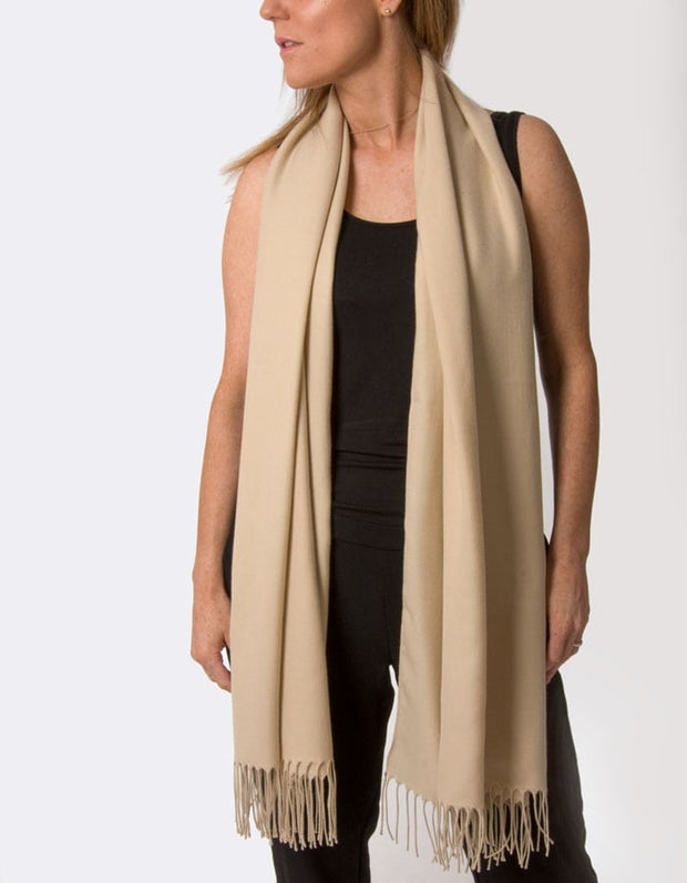 an image showing a biscuit brown pashmina