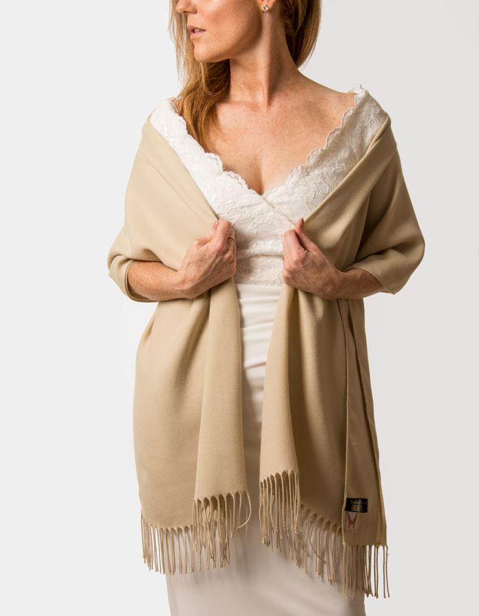 an image showing a biscuit wedding pashmina
