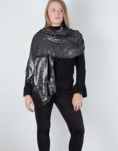 Black Metallic Pashmina