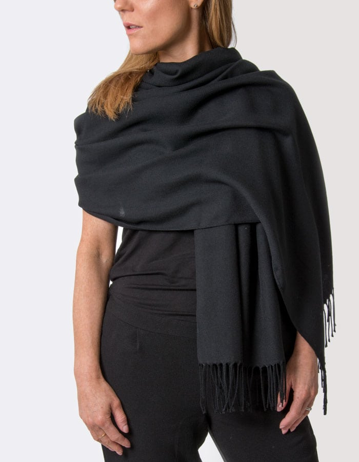 an image showing a black pashmina