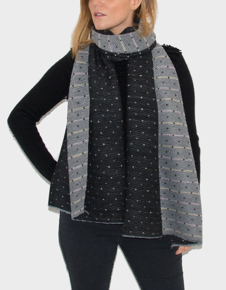 Black Reversible Scarf