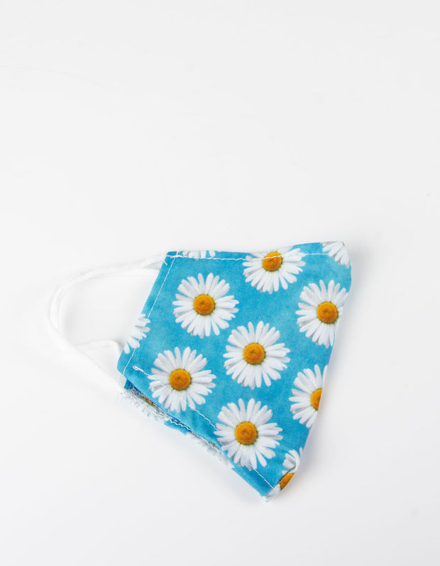 Blue Daisy Face Covering