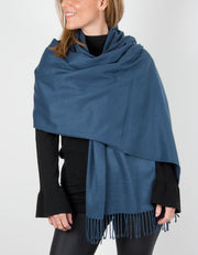 an image showing a blue winter pashmina