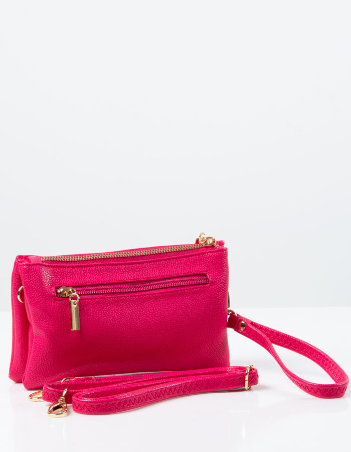 an image showing a Bright Pink Clutch Bag