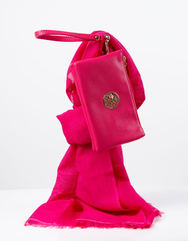 Bright Pink Clutch Bag