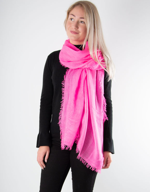 Bright Pink Scarf - Italian MicroModal