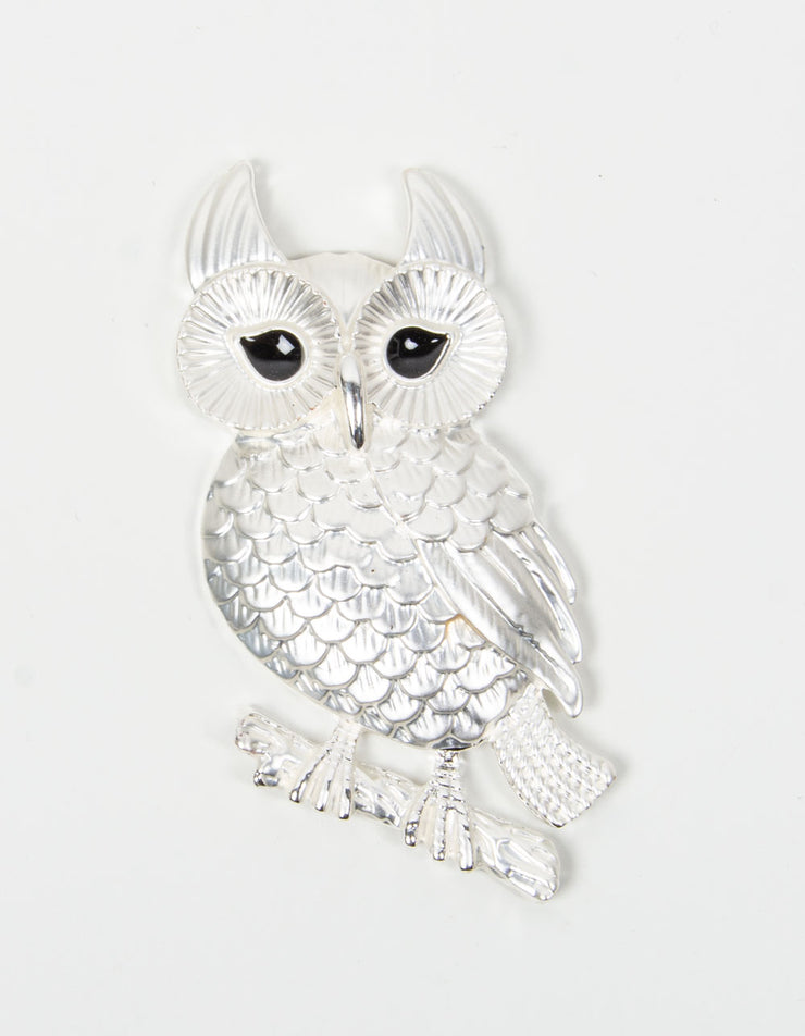 Brooch | Owl | Silver & Black