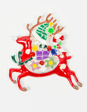 Brooch | Reindeer  | Red