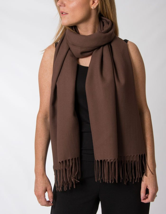 Image showing brown pashmina