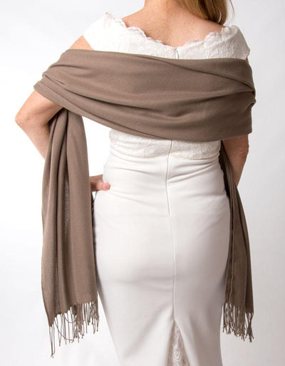 Light Brown Wedding Pashmina