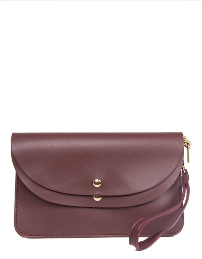 Burgundy Clutch Bag | Jordan