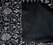 Indian Scarf Black Jaalidar