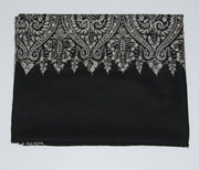 Indian Scarf Black & Silver Paldar