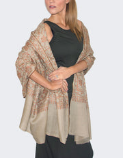Image showing a cashmere jaalidar beige