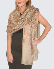 Image Showing a Cashmere Jaalidar in Beige