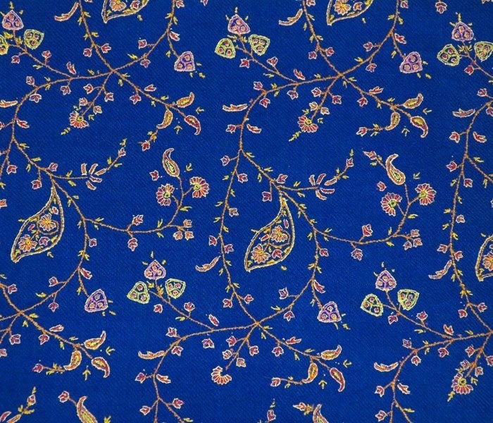 Indian Scarf Blue Jaalidar