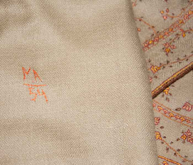 Indian Scarf Light Beige Jaalidar