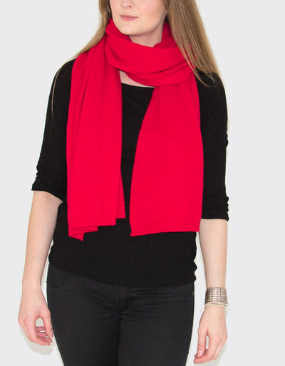 Soft Cashmere Mix Scarf Red
