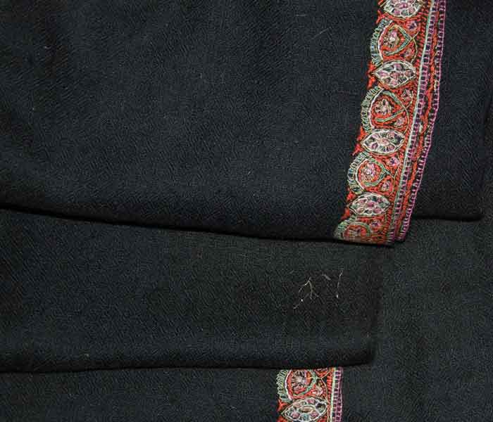 Indian Scarf Black Hashidar