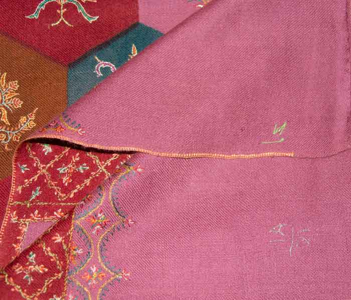 Indian Scarf Pink Jaalidar