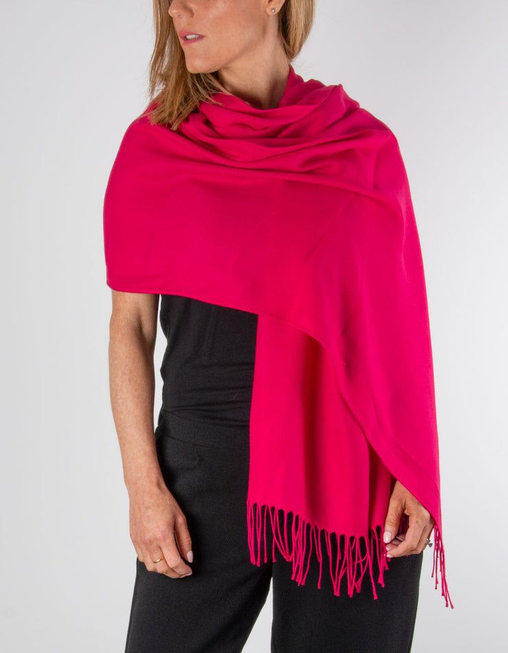 an image showing a cherry red pashmina