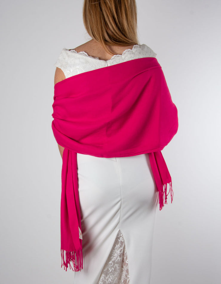 Wedding Pashmina - Cherry Red