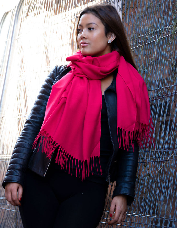 Cherry Red Pashmina