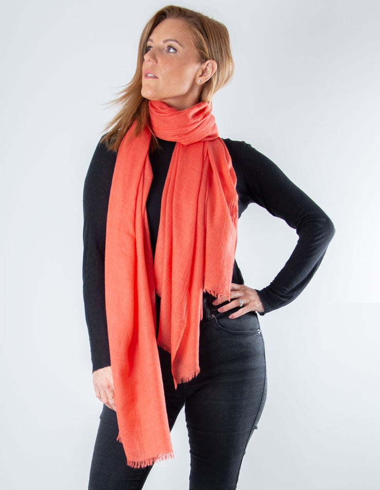 Coral Lightweight Scarf Pashmina