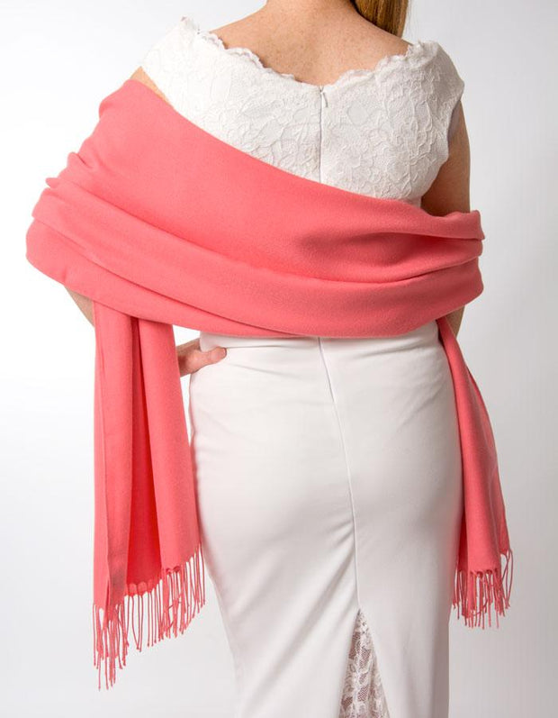 Coral Wedding Pashmina